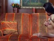 Pretty girl gapes spread snatch and gets deflorated