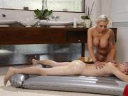 Huge tits MILF masseuse Nina Elle gets nailed by client