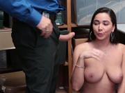 Busted Karlee Grey eats that LP Officers big cock