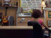 Sexy Ebony babe gets fucked in the pawnshop for big cash