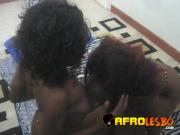 Naughty African lesbians Juliette and Sakira stripping and having sex
