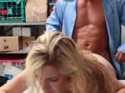Sexy blonde thief Zoe gets her pussy fucked