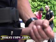 Ebony convict happy to meet these good cops