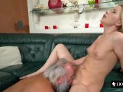 Shaved cunt drilled with hard pecker