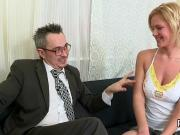 Ideal college girl is tempted and nailed by her elderly lecturer