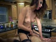 Teen eats creampie from mistress Poor Jade Jantzen.