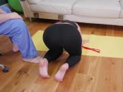 Tiny ass rough Ass-Slave Yoga