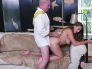 girl old forest Ivy impresses with her hefty hooters and ass