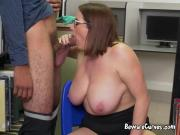 Chesty Librarian Maggie Green Blows Hung Student