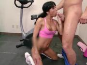 Lovely Brunette Babe Sucks & Nails Juicy Rod