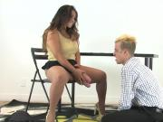 Chicks ride guys anal with huge belt dicks and squirt jizz