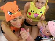 Pokemon Chicks Share Large Wiener