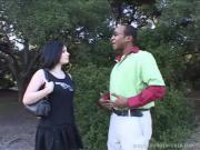 Wanton Black-Haired Girl Fucks Dark Schlong