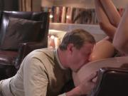 Elena Koshka is quite enjoying an old cock penetrating her young pussy
