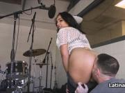 Latina on bigcock at recording studio