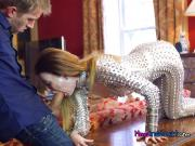 Teen Blows Hung BF While Stepmom Watches