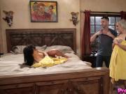 Nina Elle and her husband fuck Gina Valentina