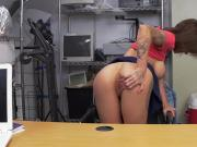 Tattooed beauty takes casting directors BBC in different poses