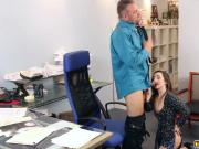 Boss Daddy got his matured cock sucked by Bambi Brooks
