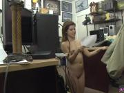 Beauty brunette amateur facial Pawnstar meets a rockstar