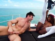 Dude cheating wife with ebony captain