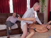 Presley Carter bounce her pussy on top of old Duke
