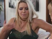 Anikka's tongue makes contact with Brett's pussy