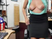 A pretty business woman Ivy Rose gets bang a little bit harder