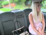 Blonde fucked in taxi on Valentines day