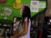 Hot beautiful barmaid Alexa Tomas pussy fucked for mone