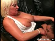 Filthy fat bigtit woman takes big hard schlong deep in