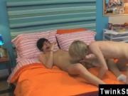 Young school gay arab foot Aidan and Preston are string
