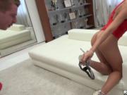 Alexa flogging hard manhood for joy