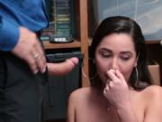 Busty thief Karlee gave her pussy for her freedom