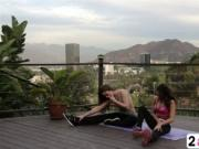 Brunette Sara Luvv Gets Massage From Dani Daniels