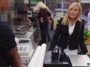 White tourist fucks Hot Milf Banged At The PawnSHop