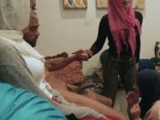 Money talks beach party Hot arab gals attempt foursome
