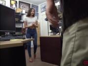 Cute Latina slut enjoys a pawnmans cock for money