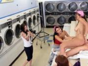 Tiny tight teen creampie and ginger blowjob Laundry Day