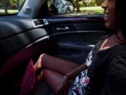 Filthy Tiffany Nunez gives a free blowjob for a ride