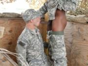 Black gays fuck military style and army male huge dick