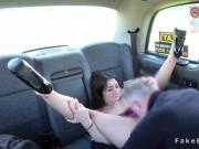 Petite babe anal fucks in fake taxi