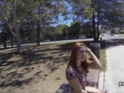 Dicking redhead cutie at tennis court