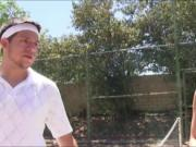 Redhead teen pounded by her tennis coach