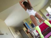 Brunette Amirah Adara enjoys riding Lexington Steele hu