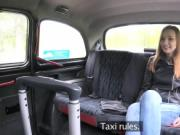 Euro student bangs in fake taxi