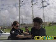 Kinky MILF cops arrested a guy to fuck