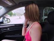 Slutty babe Kendall Kross offers a stranger a blowjob