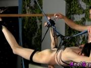 Gay bondage white guy Jerked And Drained Of Semen