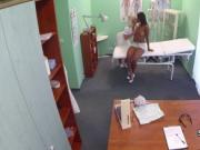 Ebony gal fucks doctor after nurse